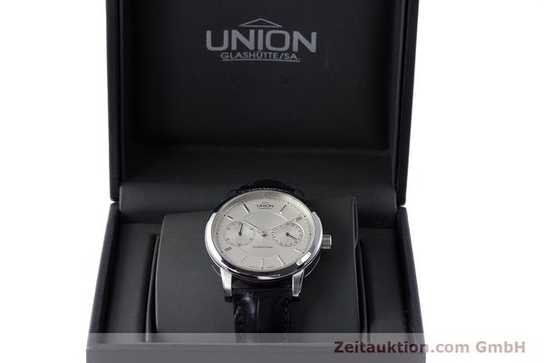 Used luxury watch Union Glashütte Zeigerdatum steel automatic Kal. 26 Ref. 2602150510  | 161682 07