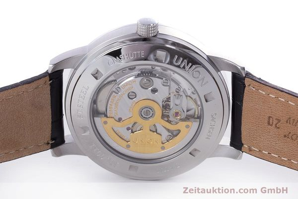 Used luxury watch Union Glashütte Zeigerdatum steel automatic Kal. 26 Ref. 2602150510  | 161682 09