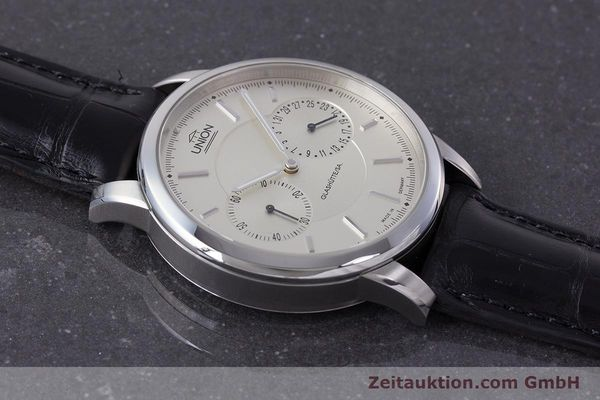 Used luxury watch Union Glashütte Zeigerdatum steel automatic Kal. 26 Ref. 2602150510  | 161682 15