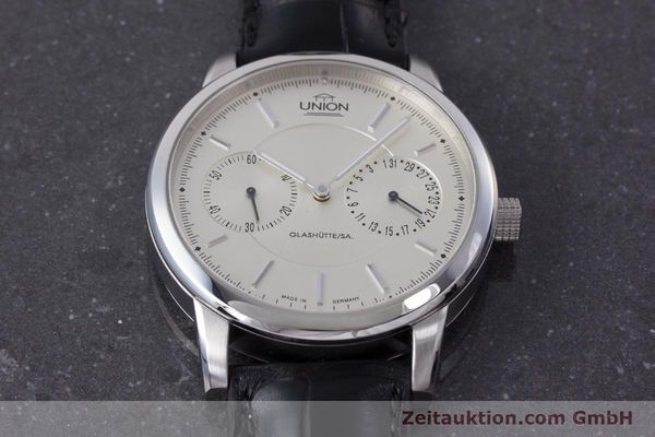 Used luxury watch Union Glashütte Zeigerdatum steel automatic Kal. 26 Ref. 2602150510  | 161682 16
