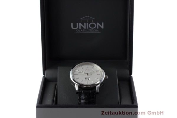 Used luxury watch Union Glashütte Panoramadatum steel automatic Kal. 26-45 Ref. 26-45-15-01-10  | 161683 07
