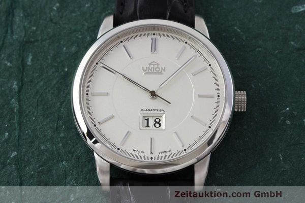 Used luxury watch Union Glashütte Panoramadatum steel automatic Kal. 26-45 Ref. 26-45-15-01-10  | 161683 17