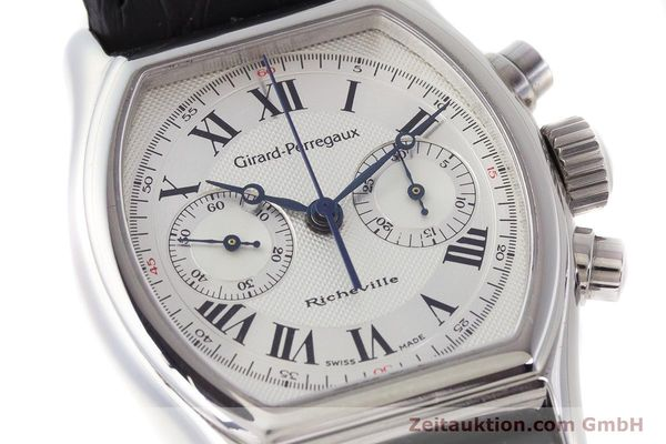 Used luxury watch Girard Perregaux Richeville chronograph steel manual winding Kal. LWO1872 Ref. 2710  | 161689 02