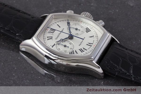 Used luxury watch Girard Perregaux Richeville chronograph steel manual winding Kal. LWO1872 Ref. 2710  | 161689 12
