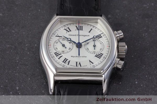 Used luxury watch Girard Perregaux Richeville chronograph steel manual winding Kal. LWO1872 Ref. 2710  | 161689 13