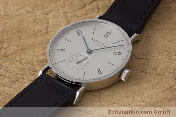 Used luxury watch Nomos Tangente steel manual winding Kal. Alpha  | 161691 01