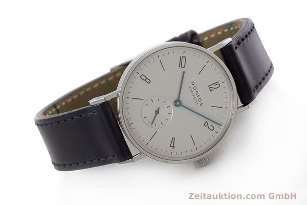 Used luxury watch Nomos Tangente steel manual winding Kal. Alpha  | 161691 03