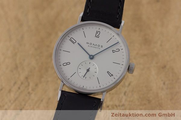 Used luxury watch Nomos Tangente steel manual winding Kal. Alpha  | 161691 04