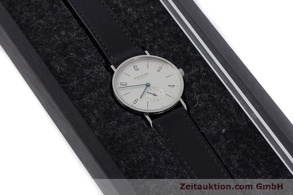 Used luxury watch Nomos Tangente steel manual winding Kal. Alpha  | 161691 07