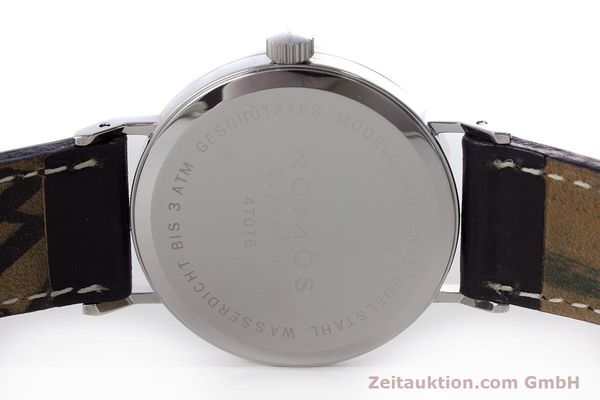 Used luxury watch Nomos Tangente steel manual winding Kal. Alpha  | 161691 09