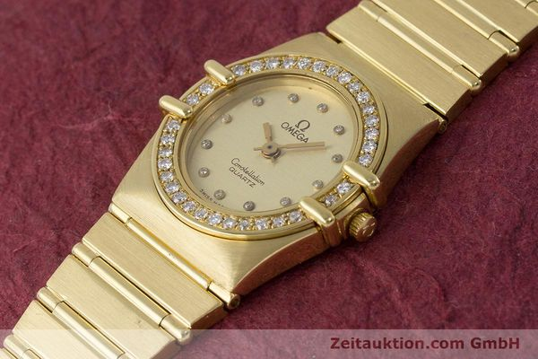 Used luxury watch Omega Constellation 18 ct gold quartz Kal. 1450  | 161699 01