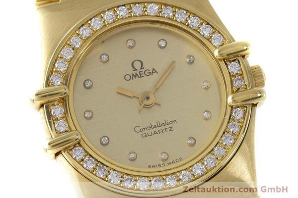 Used luxury watch Omega Constellation 18 ct gold quartz Kal. 1450  | 161699 02