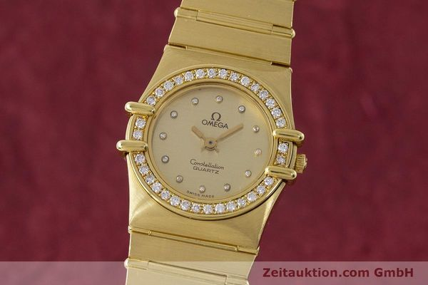 Used luxury watch Omega Constellation 18 ct gold quartz Kal. 1450  | 161699 04