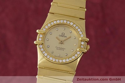 OMEGA LADY 18K GOLD CONSTELLATION DIAMANTEN DAMENUHR VP: 22100,- EURO [161699]