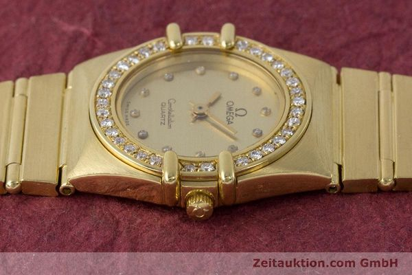Used luxury watch Omega Constellation 18 ct gold quartz Kal. 1450  | 161699 05