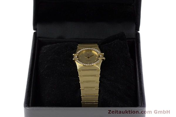 Used luxury watch Omega Constellation 18 ct gold quartz Kal. 1450  | 161699 07