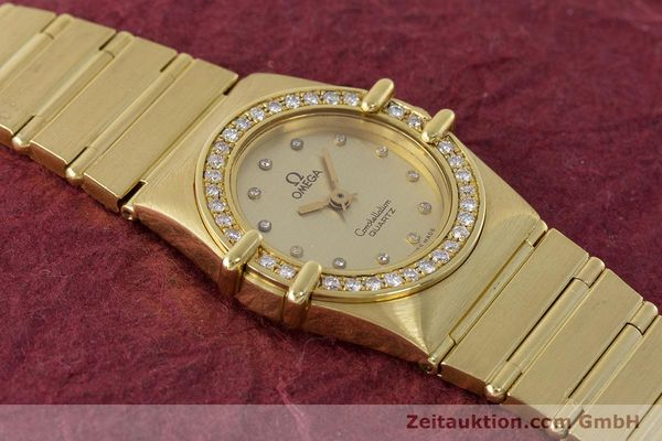 Used luxury watch Omega Constellation 18 ct gold quartz Kal. 1450  | 161699 14