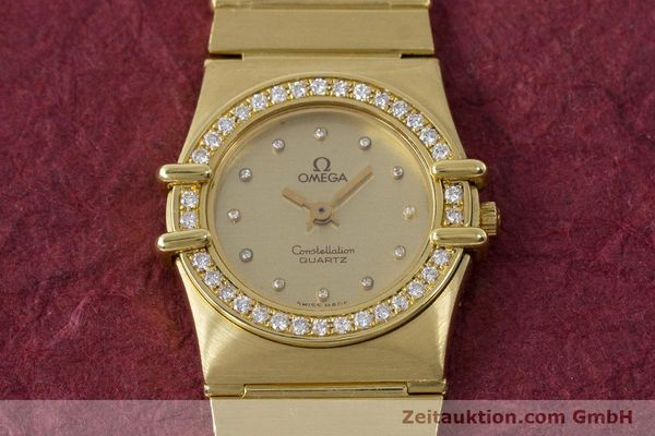 Used luxury watch Omega Constellation 18 ct gold quartz Kal. 1450  | 161699 15