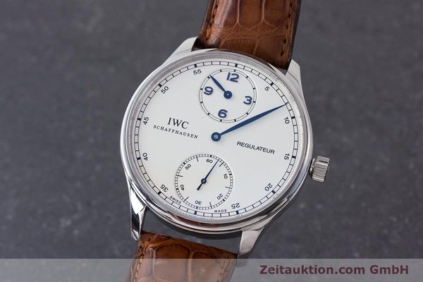 Used luxury watch IWC Portugieser steel manual winding Kal. 98245 Ref. IW544401  | 161701 04