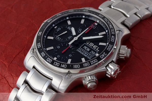 Used luxury watch Ebel 1911 chronograph steel automatic Kal. ETA 7750 Ref. E9750L62  | 161702 01