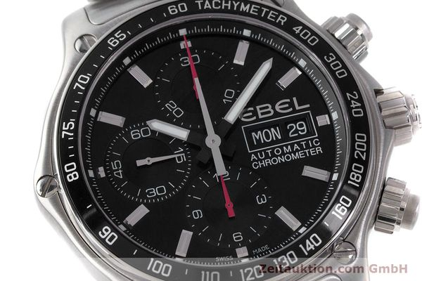 Used luxury watch Ebel 1911 chronograph steel automatic Kal. ETA 7750 Ref. E9750L62  | 161702 02