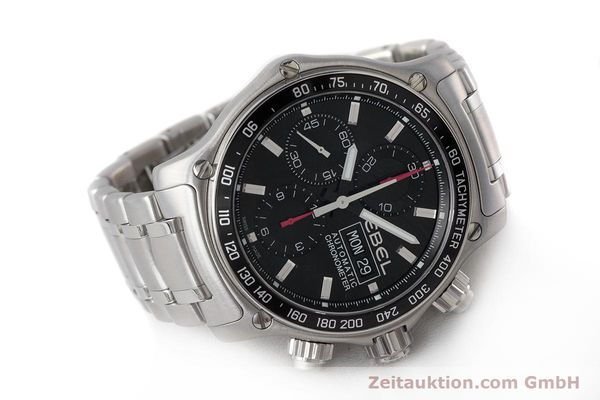 Used luxury watch Ebel 1911 chronograph steel automatic Kal. ETA 7750 Ref. E9750L62  | 161702 03