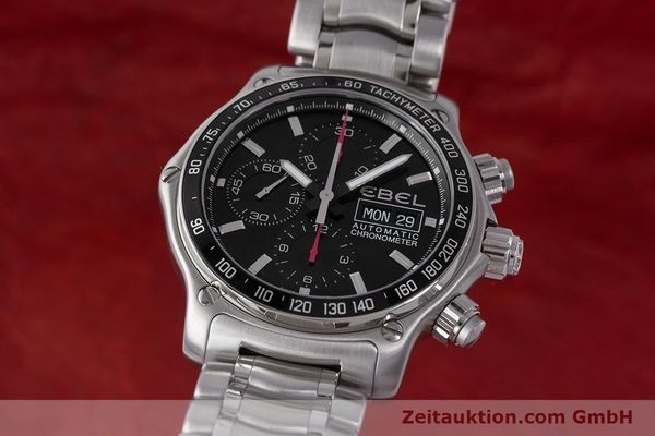 Used luxury watch Ebel 1911 chronograph steel automatic Kal. ETA 7750 Ref. E9750L62  | 161702 04