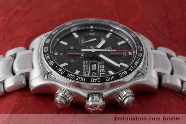 Used luxury watch Ebel 1911 chronograph steel automatic Kal. ETA 7750 Ref. E9750L62  | 161702 05