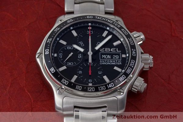 Used luxury watch Ebel 1911 chronograph steel automatic Kal. ETA 7750 Ref. E9750L62  | 161702 17