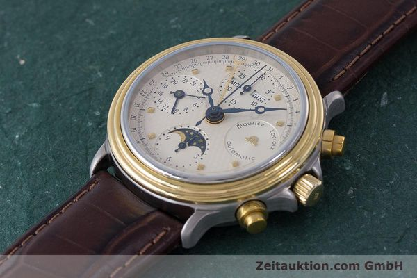 Used luxury watch Maurice Lacroix Phase de Lune  chronograph steel / gold automatic Kal. Valj. 7750  | 161704 01