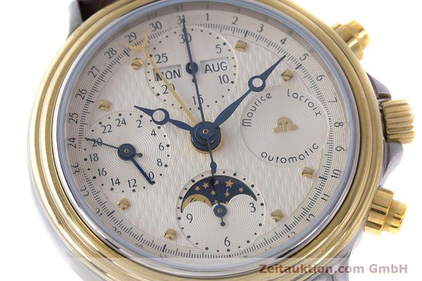 Used luxury watch Maurice Lacroix Phase de Lune  chronograph steel / gold automatic Kal. Valj. 7750  | 161704 02