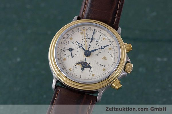 Used luxury watch Maurice Lacroix Phase de Lune  chronograph steel / gold automatic Kal. Valj. 7750  | 161704 04