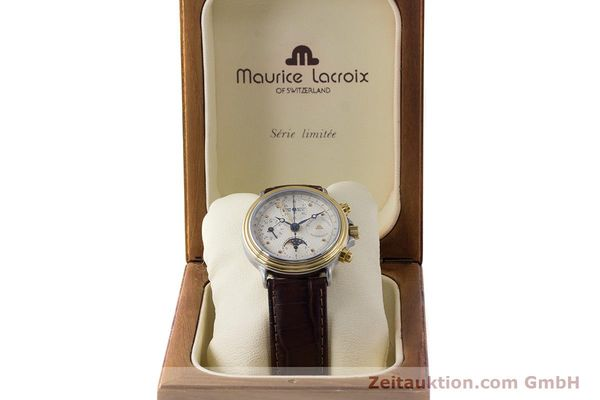 Used luxury watch Maurice Lacroix Phase de Lune  chronograph steel / gold automatic Kal. Valj. 7750  | 161704 07