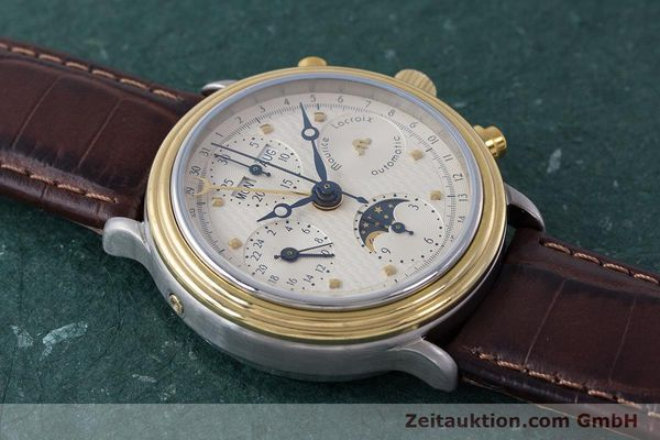 Used luxury watch Maurice Lacroix Phase de Lune  chronograph steel / gold automatic Kal. Valj. 7750  | 161704 13