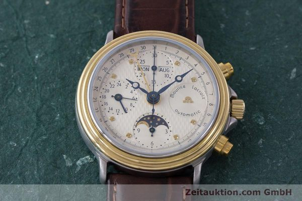 Used luxury watch Maurice Lacroix Phase de Lune  chronograph steel / gold automatic Kal. Valj. 7750  | 161704 14