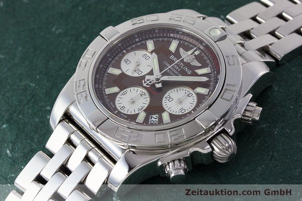 Used luxury watch Breitling Chronomat 41 chronograph steel automatic Kal. B01 Ref. AB0140  | 161705 01
