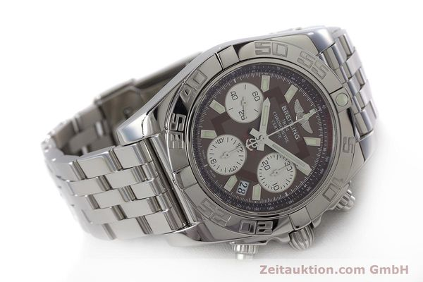 Used luxury watch Breitling Chronomat 41 chronograph steel automatic Kal. B01 Ref. AB0140  | 161705 03
