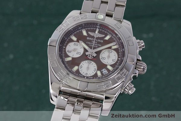 Used luxury watch Breitling Chronomat 41 chronograph steel automatic Kal. B01 Ref. AB0140  | 161705 04