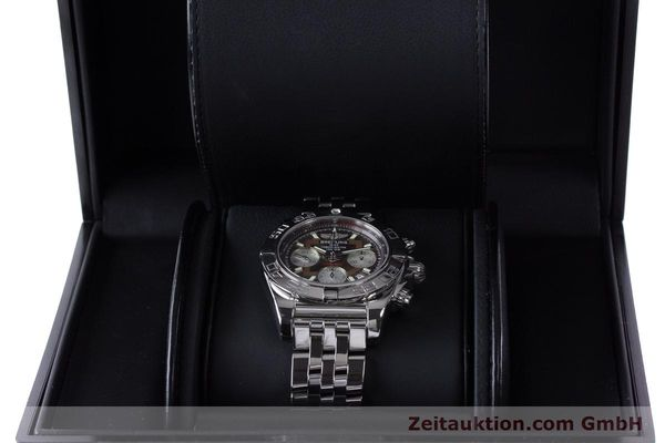Used luxury watch Breitling Chronomat 41 chronograph steel automatic Kal. B01 Ref. AB0140  | 161705 07