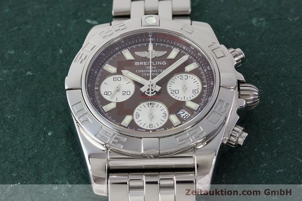 Used luxury watch Breitling Chronomat 41 chronograph steel automatic Kal. B01 Ref. AB0140  | 161705 18