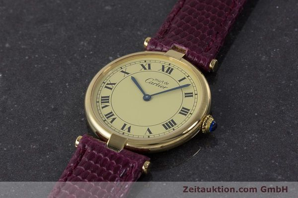 Used luxury watch Cartier Vermeil silver-gilt quartz Kal. 90  | 161707 01