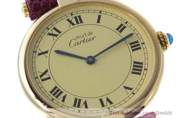 Used luxury watch Cartier Vermeil silver-gilt quartz Kal. 90  | 161707 02