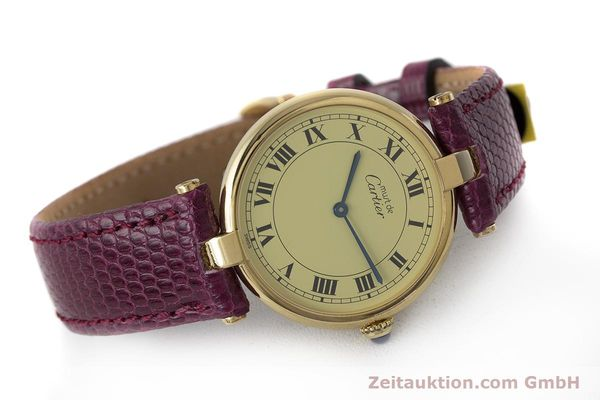 Used luxury watch Cartier Vermeil silver-gilt quartz Kal. 90  | 161707 03