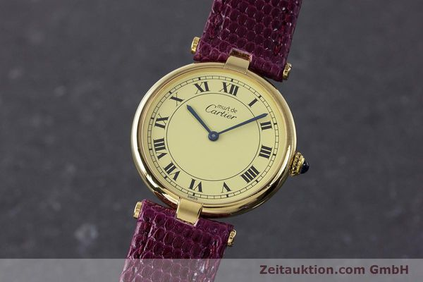 Used luxury watch Cartier Vermeil silver-gilt quartz Kal. 90  | 161707 04