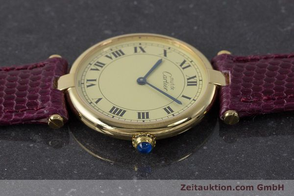 Used luxury watch Cartier Vermeil silver-gilt quartz Kal. 90  | 161707 05