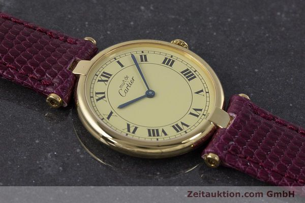 Used luxury watch Cartier Vermeil silver-gilt quartz Kal. 90  | 161707 12