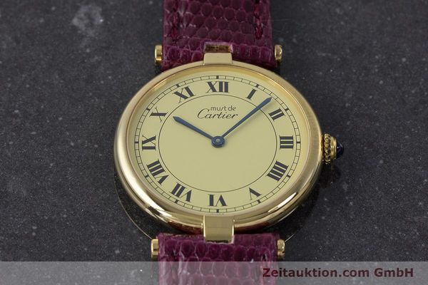 Used luxury watch Cartier Vermeil silver-gilt quartz Kal. 90  | 161707 13