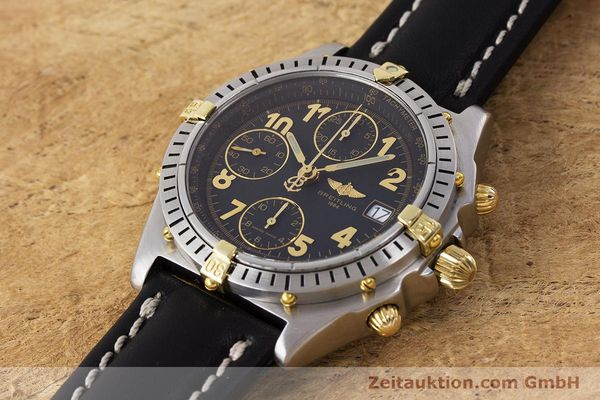 Used luxury watch Breitling Chronomat chronograph steel / gold automatic Kal. B13 ETA 7750 Ref. B13050.1  | 161709 01
