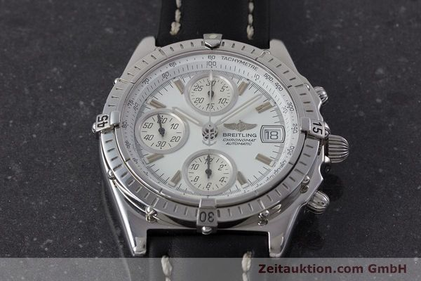 Used luxury watch Breitling Chronomat chronograph steel automatic Kal. B13 ETA 7750 Ref. A13050.1  | 161718 16