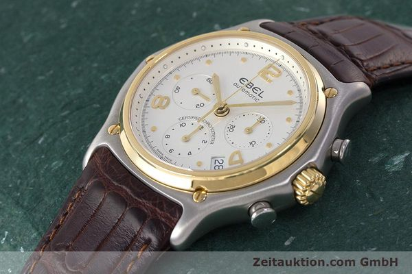Used luxury watch Ebel 1911 chronograph steel / gold automatic Kal. 137 Ref. 1137240  | 161725 01